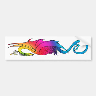 Colorful Rainbow Dragon long Sticker