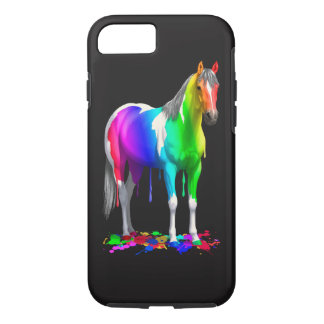 Colorful Rainbow Dripping Wet Paint Horse iPhone 8/7 Case