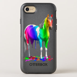 Colorful Rainbow Dripping Wet Paint Horse OtterBox Symmetry iPhone 8/7 Case