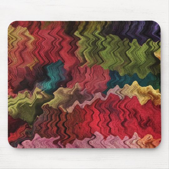 Colorful Rainbow Fabric Abstract Mousepad