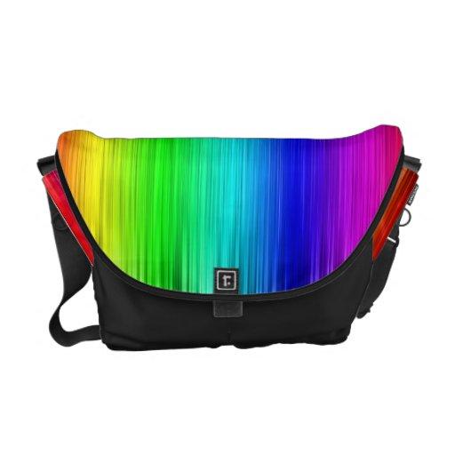 Colorful Rainbow Fibers Messanger Bags Messenger Bag