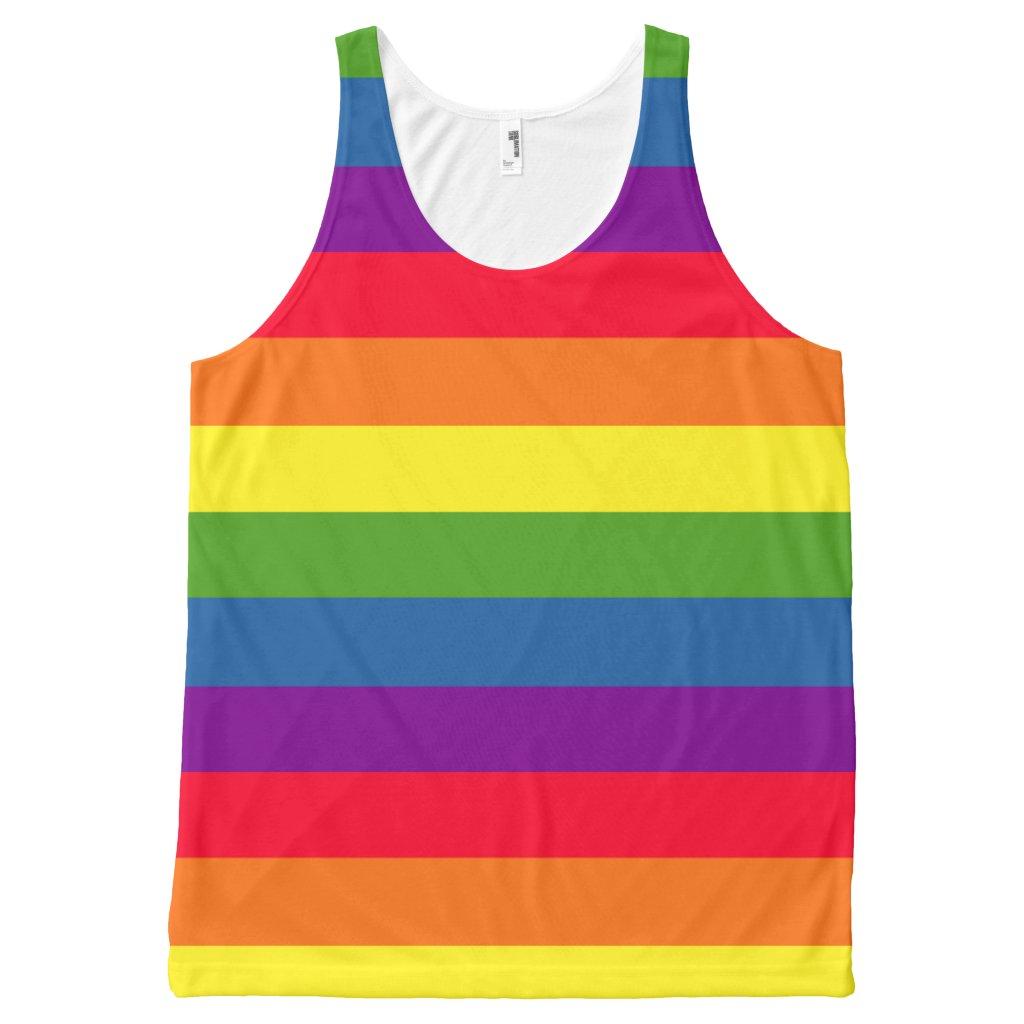 Colorful Rainbow Flag Gay Pride