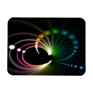 Colorful Rainbow Fractal Art Rectangular Photo Magnet