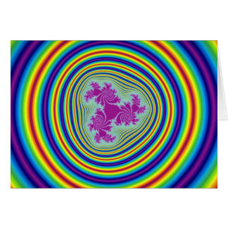 Colorful Rainbow fractal well Greeting Cards