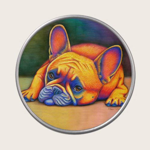 Colorful Rainbow French Bulldog Frenchie Candy Tin