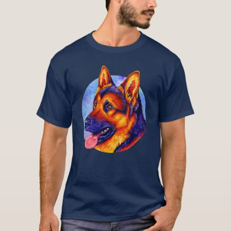 Colorful Rainbow German Shepherd Dog T-Shirt