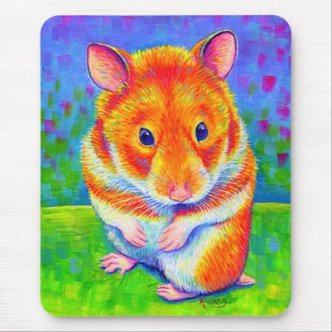 Colorful Rainbow Hamster Mouse Pad