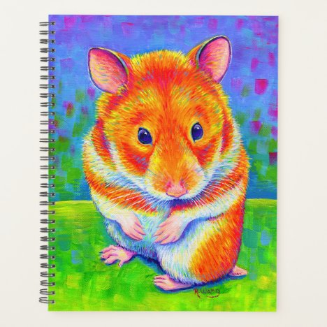 Colorful Rainbow Hamster Planner