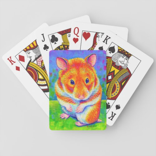 Colorful Rainbow Hamster Playing Cards