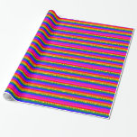 Colorful Rainbow-Happy Birthday Gift Wrap Paper