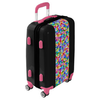 Colorful Rainbow Heart Pattern luggage suitcase