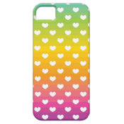 Colorful Rainbow Hearts Pattern Gifts iPhone 5 Case