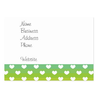 Colorful Rainbow Hearts Pattern Gifts Large Business Card