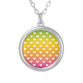Colorful Rainbow Hearts Pattern Gifts Jewelry