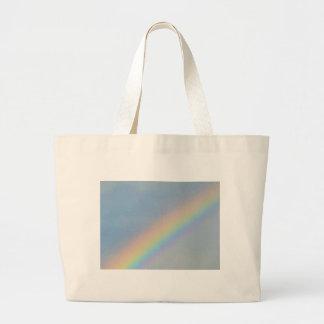 Colorful Rainbow in Blue Sky, Photo Jumbo Tote Bag