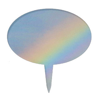 Colorful Rainbow in Blue Sky, Photo Cake Topper
