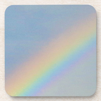 Colorful Rainbow in Blue Sky, Photo Coaster