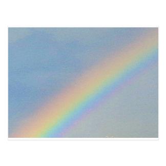 Colorful Rainbow in Blue Sky, Photo Postcard