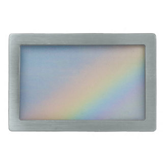Colorful Rainbow in Blue Sky, Photo Rectangular Belt Buckle