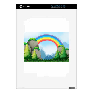 Colorful rainbow in the nautre decal for the iPad 2