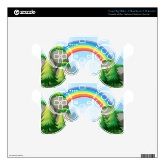 Colorful rainbow in the nautre PS3 controller decal