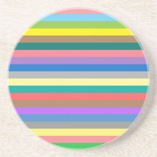 Colorful rainbow lines pattern coaster