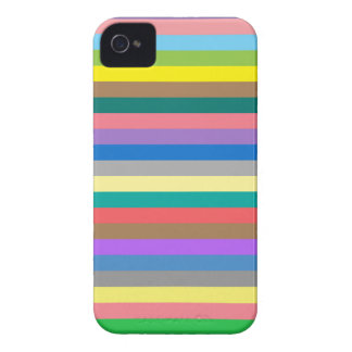 Colorful rainbow lines pattern iPhone 4 case