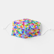 Colorful Rainbow Love Hearts pattern Cloth Face Mask