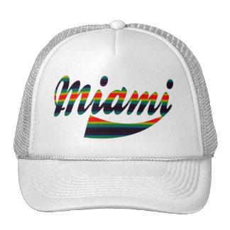 Colorful Rainbow Miami Cap Trucker Hat