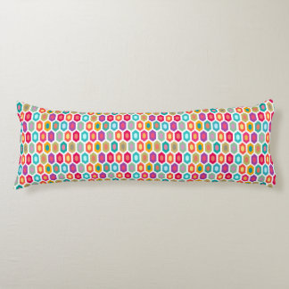 Colorful Rainbow Modern Ikat Pattern Body Pillow