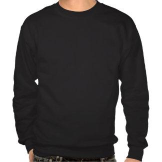 Colorful Rainbow Mustache pattern on black Pullover Sweatshirts