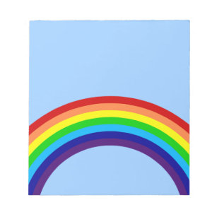colorful rainbow notepad