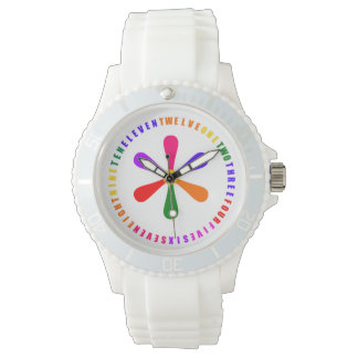 Colorful Rainbow Numbers Watches