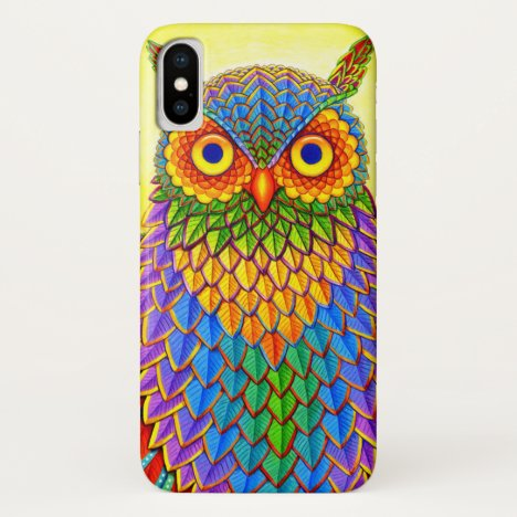 Colorful Rainbow Owl CaseMate Case
