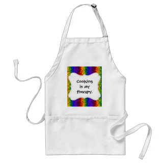 Colorful Rainbow Paint Splatters Abstract Art Adult Apron