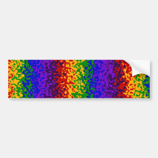 Colorful Rainbow Paint Splatters Abstract Art Bumper Sticker