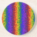 Colorful Rainbow Paint Splatters Abstract Art Beverage Coasters