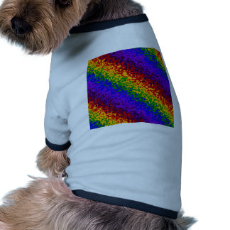 Colorful Rainbow Paint Splatters Abstract Art Doggie Tee Shirt