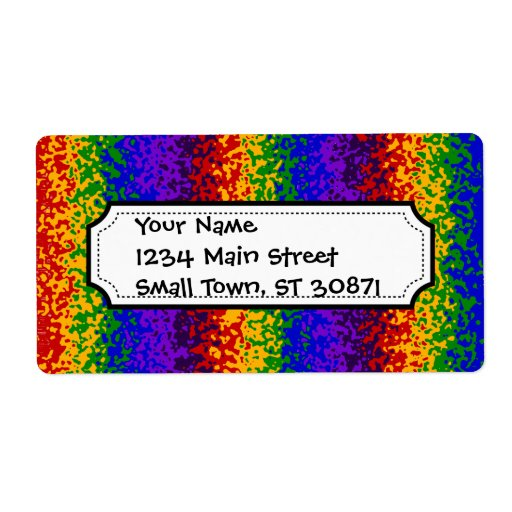 Colorful Rainbow Paint Splatters Abstract Art Shipping Labels