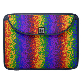 Colorful Rainbow Paint Splatters Abstract Art MacBook Pro Sleeve