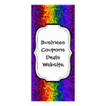 Colorful Rainbow Paint Splatters Abstract Art Personalized Rack Card