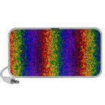 Colorful Rainbow Paint Splatters Abstract Art Portable Speaker