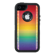 Colorful Rainbow Pattern OtterBox Defender iPhone Case