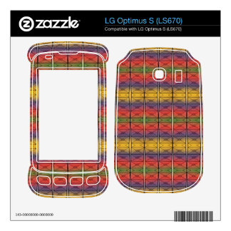 Colorful Rainbow Pattern LG Optimus S Decal