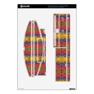 colorful rainbow pattern decal for the PS3