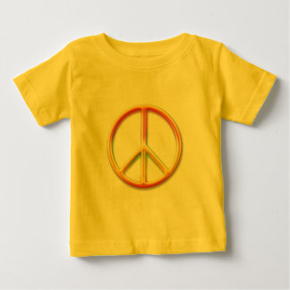 Colorful Rainbow Peace Symbol Baby T-Shirt