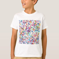 Colorful Rainbow Polka Dot Watercolor T-Shirt