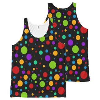Colorful Rainbow Polka Dots All-Over-Print Tank Top
