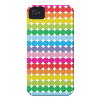 Colorful Rainbow polka-dots pattern iPhone 4/4s iPhone 4 Case
