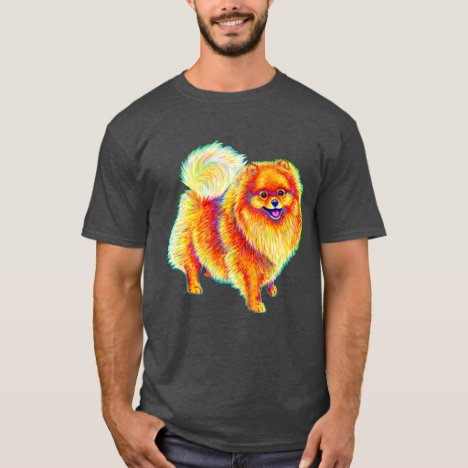 Colorful Rainbow Pomeranian Dog T-Shirt